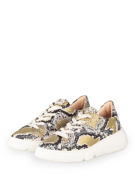 AGL ATTILIO GIUSTI LEOMBRUNI Plateau-Sneaker SHEILA, Farbe: SCHWARZ/ WEISS/ GOLD (Bild 1)