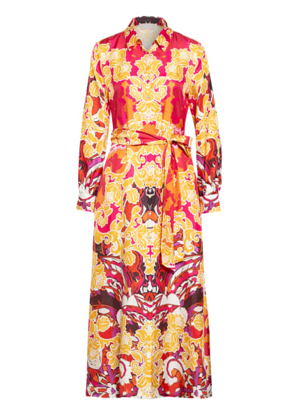 Mrs & HUGS Hemdblusenkleid aus Seide , Farbe: ROSA/ GELB/ WEISS (Bild 1)