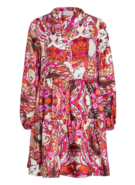 Mrs & HUGS Seidenkleid, Farbe: WEISS/ PINK/ HELLORANGE (Bild 1)