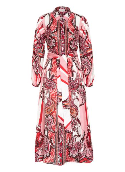 Mrs & HUGS Hemdblusenkleid aus Seide, Farbe: ROT/ DUNKELROT/ WEISS (Bild 1)