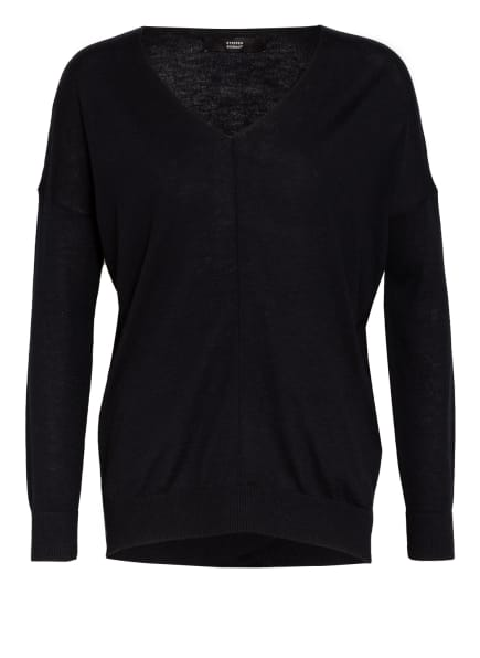 STEFFEN SCHRAUT Pullover mit Schmucksteinbesatz, Farbe: SCHWARZ (Bild 1)