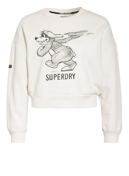 Superdry Sweatshirt MILITARY NARRATIVE, Farbe: CREME/ SCHWARZ (Bild 1)