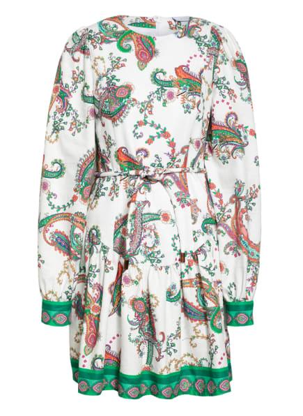 NVSCO Kleid ZENIA mit Leinen , Farbe: WEISS/ GRÜN/ LILA (Bild 1)