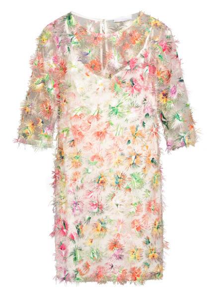 NVSCO Kleid MALEA mit 3/4-Arm , Farbe: GRÜN/ GELB/ PINK (Bild 1)