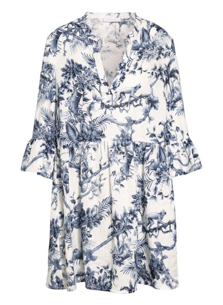 NVSCO Kleid LUISA mit 3/4-Arm , Farbe: WEISS/ BLAU/ DUNKELBLAU (Bild 1)