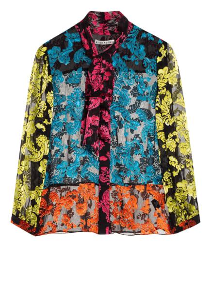 alice+olivia Blusenshirt mit Seide, Farbe: SCHWARZ/ PINK/ PETROL (Bild 1)