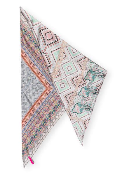 MUCHO GUSTO Dreieckstuch ST TROPEZ aus Seide, Farbe: HELLGRAU/ ROSA/ HELLGRÜN (Bild 1)