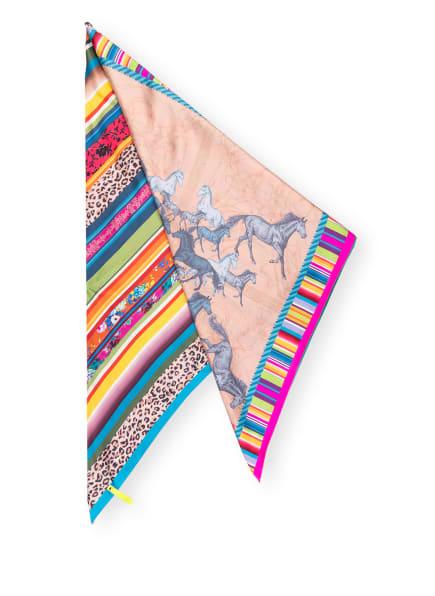 MUCHO GUSTO Dreickstuch ST TROPEZ aus Seide, Farbe: ROSÉ/ HELLBLAU/ ORANGE (Bild 1)
