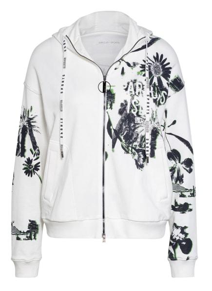 MARC CAIN Sweatjacke, Farbe: 190 white and black (Bild 1)