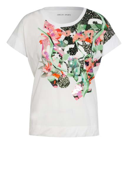 MARC CAIN T-Shirt mit Paillettenbesatz, Farbe: 110 off (Bild 1)