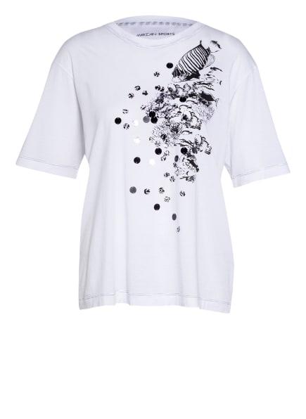 MARC CAIN T-Shirt mit Paillettenbesatz, Farbe: 100 WHITE (Bild 1)