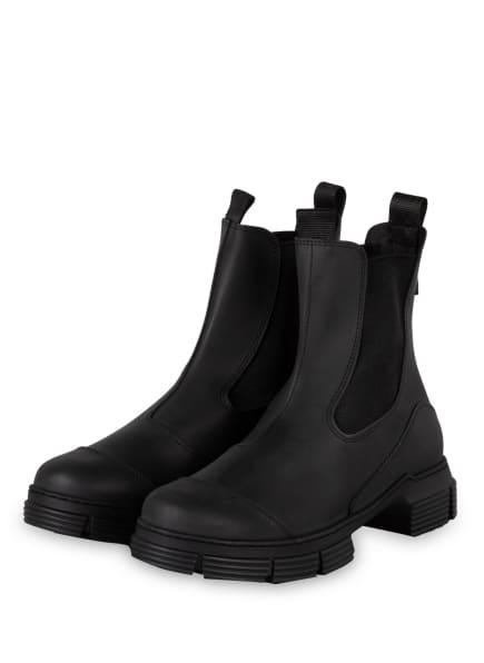 GANNI Gummi-Boots , Farbe: SCHWARZ (Bild 1)
