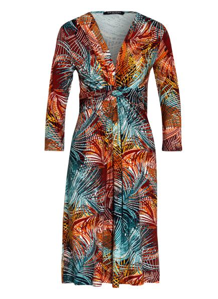 ILSE JACOBSEN Kleid in Wickeloptik, Farbe: COGNAC/ HELLBLAU/ BRAUN (Bild 1)