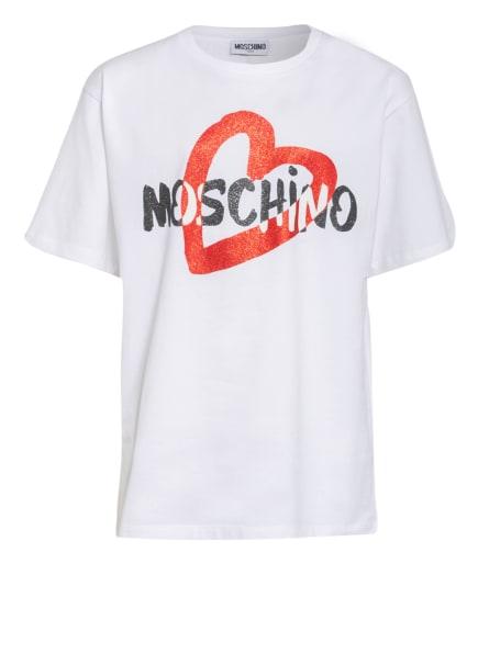 MOSCHINO T-Shirt, Farbe: WEISS/ SCHWARZ/ ROT (Bild 1)