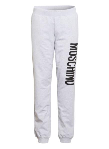 MOSCHINO Sweatpants, Farbe: HELLGRAU/ SCHWARZ (Bild 1)
