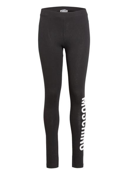 MOSCHINO Leggings, Farbe: SCHWARZ/ WEISS (Bild 1)