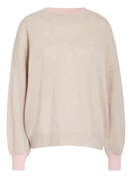 herzensangelegenheit Pullover mit Cashmere, Farbe: HELLROSA/ TAUPE (Bild 1)