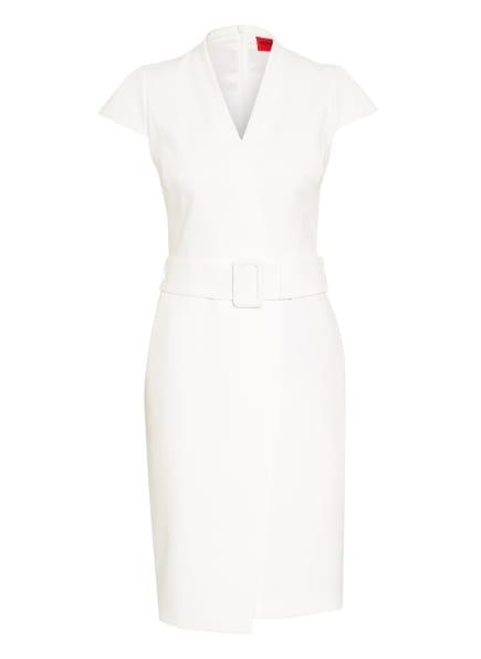 HUGO Kleid KAMURE in Wickeloptik, Farbe: WEISS (Bild 1)