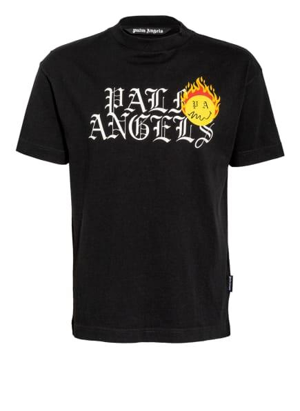 Palm Angels T-Shirt, Farbe: SCHWARZ/ WEISS/ GELB (Bild 1)
