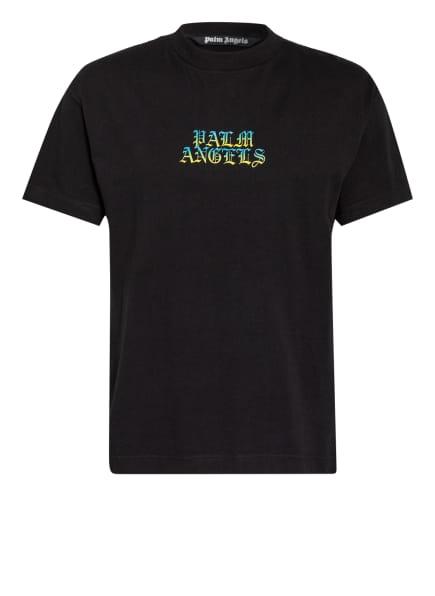 Palm Angels T-Shirt, Farbe: SCHWARZ/ GELB/ TÜRKIS (Bild 1)