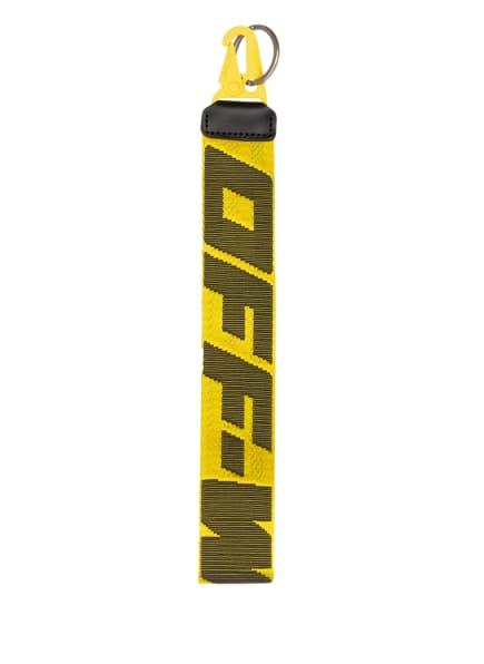 Off-White Schlüsselanhänger INDUSTRIAL 2.0, Farbe: GELB/ SCHWARZ (Bild 1)