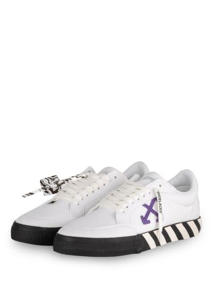 Off-White Sneaker, Farbe: WEISS/ LILA/ SCHWARZ (Bild 1)