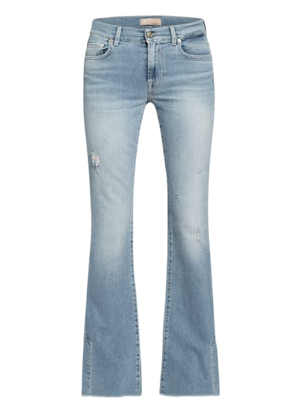 7 for all mankind Bootcut Jeans SKYWALK, Farbe: Luxe Vintage Skywalk Distressed LIGHT BLUE (Bild 1)