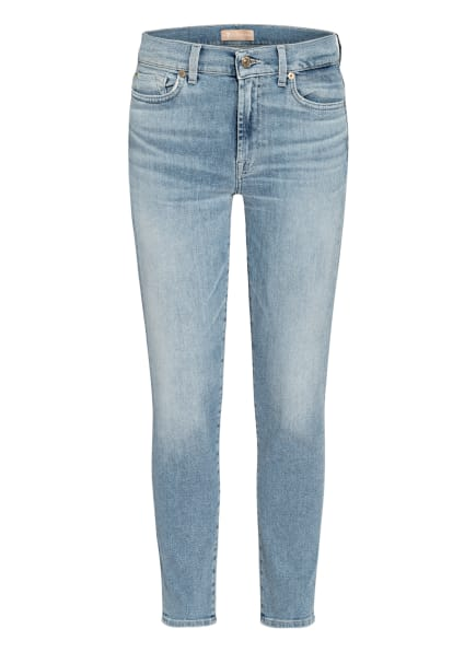 7 for all mankind 7/8-Jeans ROXANNE, Farbe: Luxe Vintage Skywalk Distressed LIGHT BLUE (Bild 1)