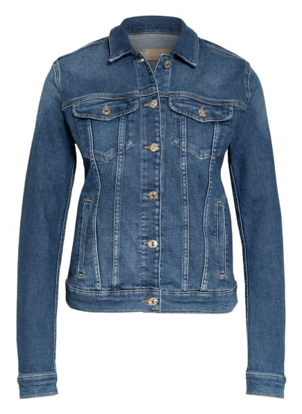 7 for all mankind Jeansjacke MODERN TRUCKER, Farbe: Luxe Vintage Pacific Grove MID BLUE (Bild 1)