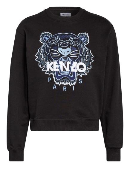 KENZO Sweatshirt TIGER CLASSIC mit Stickereien, Farbe: SCHWARZ/ HELLBLAU/ WEISS (Bild 1)