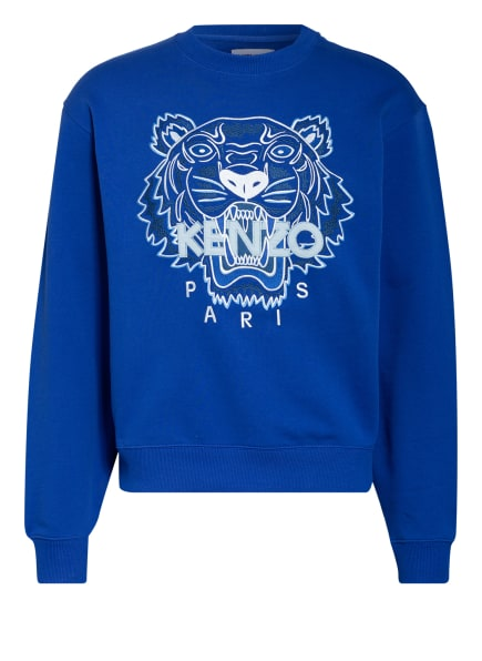 KENZO Sweatshirt TIGER CLASSIC mit Stickereien, Farbe: BLAU (Bild 1)