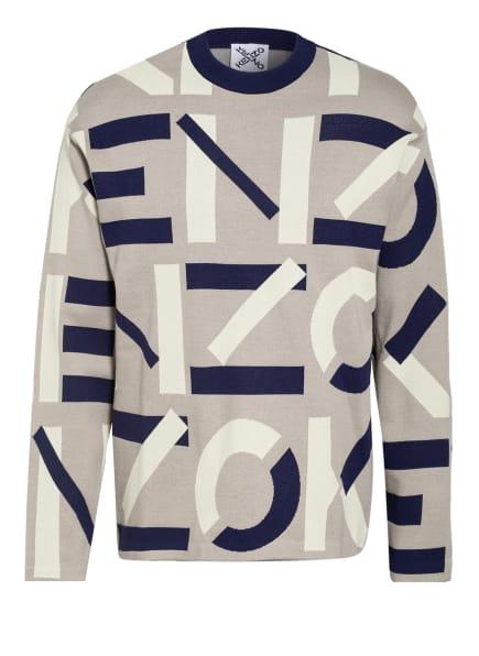 KENZO Pullover, Farbe: GRAU/ DUNKELBLAU/ ECRU (Bild 1)