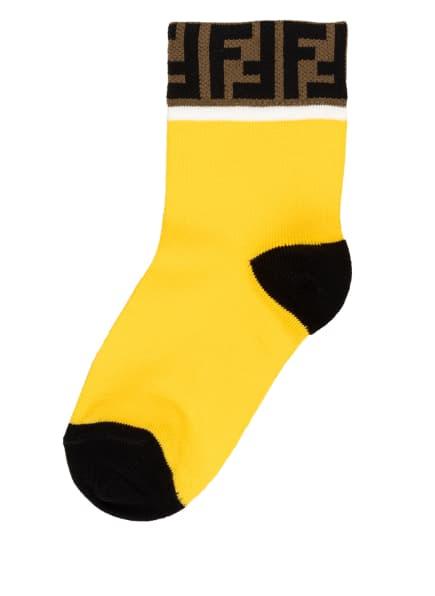 FENDI 2er-Pack Socken , Farbe: CREME/ GELB (Bild 1)