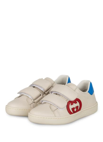 GUCCI Sneaker, Farbe: CREME/ ROT/ BLAU (Bild 1)