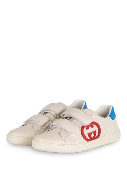 GUCCI Sneaker ACE, Farbe: CREME/ BLAU/ ROT (Bild 1)