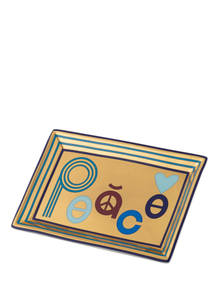 JONATHAN ADLER Schale PEACE , Farbe: GOLD/ PETROL/ DUNKELBLAU (Bild 1)