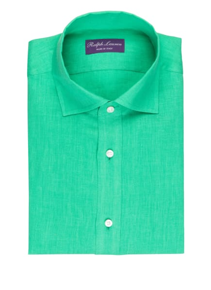 RALPH LAUREN PURPLE LABEL Leinenhemd Regular Fit, Farbe: GRÜN (Bild 1)