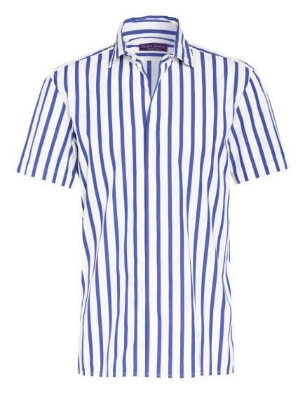 RALPH LAUREN PURPLE LABEL Kurzarm-Hemd CAPRI Comfort Fit, Farbe: WEISS/ BLAU (Bild 1)