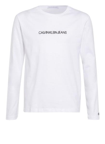 Calvin Klein Longsleeve INSTITUTIONAL, Farbe: WEISS/ SCHWARZ (Bild 1)