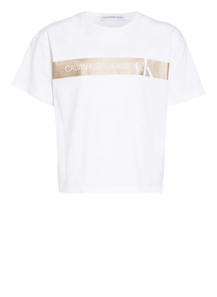 Calvin Klein T-Shirt, Farbe: WEISS/ GOLD (Bild 1)