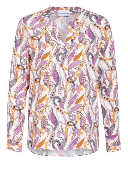 HERZEN'S ANGELEGENHEIT Blusenshirt aus Seide, Farbe: ECRU/ LILA/ ORANGE (Bild 1)