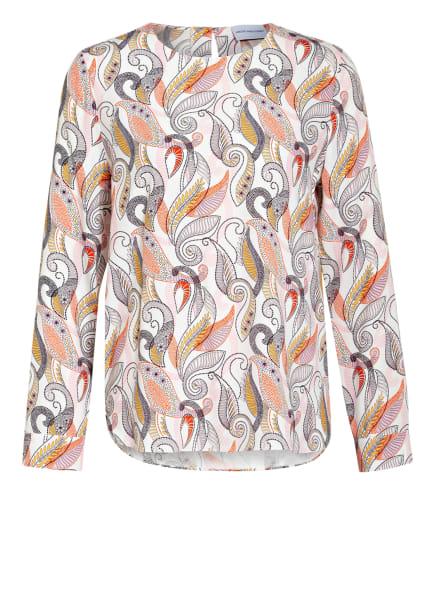 herzensangelegenheit Blusenshirt aus Seide, Farbe: WEISS/ SCHWARZ/ GELB (Bild 1)