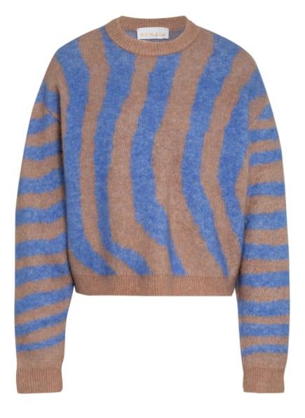 REMAIN BIRGER CHRISTENSEN Pullover CAMI, Farbe: BLAU/ HELLBRAUN (Bild 1)