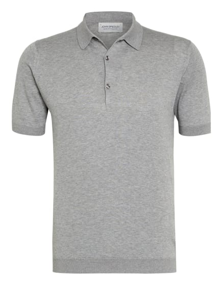 JOHN SMEDLEY Feinstrick Poloshirt ADRIAN, Farbe: GRAU (Bild 1)