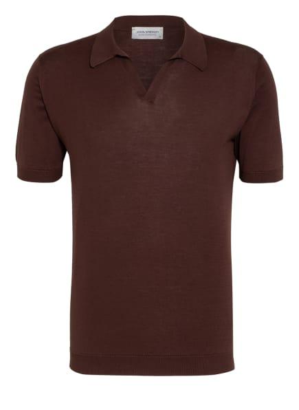 JOHN SMEDLEY Jersey-Poloshirt Standard Fit, Farbe: DUNKELBRAUN (Bild 1)