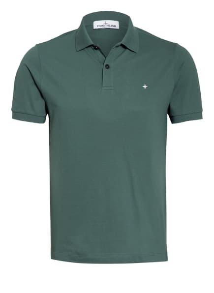 STONE ISLAND Piqué-Poloshirt Regular Fit, Farbe: DUNKELGRÜN (Bild 1)
