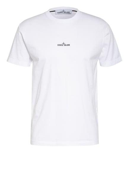 STONE ISLAND T-Shirt , Farbe: WEISS/ SCHWARZ/ NEONGELB (Bild 1)