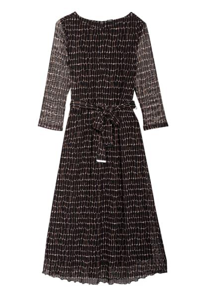 s.Oliver BLACK LABEL Kleid mit 3/4-Arm, Farbe: SCHWARZ/ HELLBRAUN/ WEISS (Bild 1)