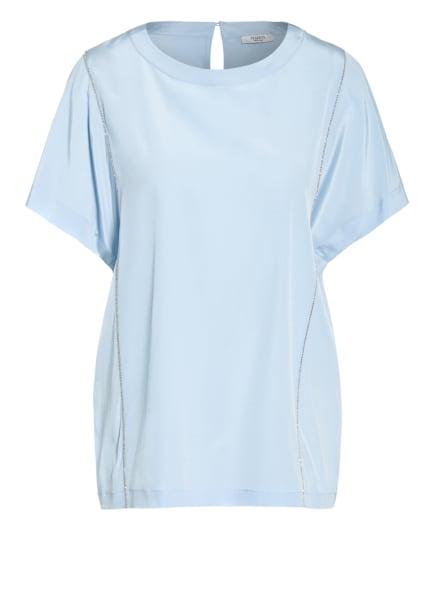 PESERICO Blusenshirt aus Seide, Farbe: HELLBLAU (Bild 1)