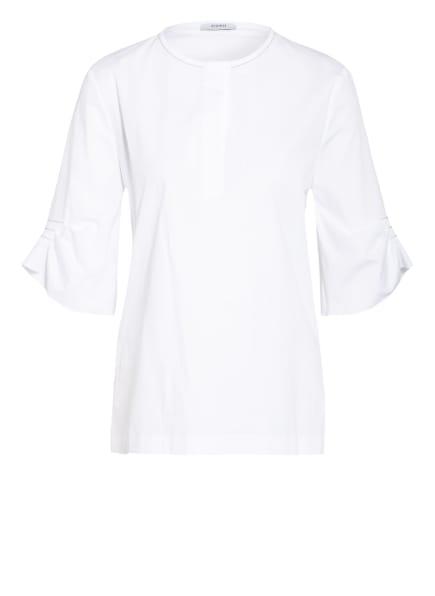 PESERICO Blusenshirt mit Schmucksteinbesatz, Farbe: WEISS (Bild 1)